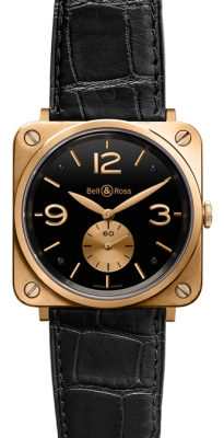 Bell & Ross BR-S Mechanical Gold 39mm BRS Pink Gold Black