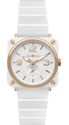Bell & Ross BR S Quartz 39mm BRS Pink Gold and White Ceramic