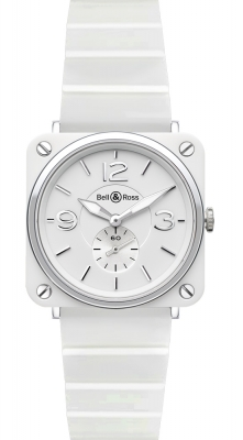 Bell & Ross BR S Quartz 39mm BRS White Ceramic Bracelet
