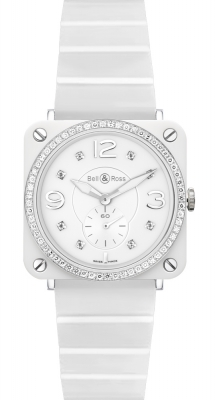 BRS White Ceramic Phantom Diamond Bracelet