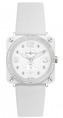 Bell & Ross BR S Quartz 39mm BRS White Ceramic Phantom Diamond
