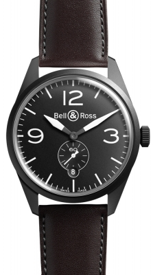 Bell & Ross BR 123 Vintage BRV 123 Original Black Carbon