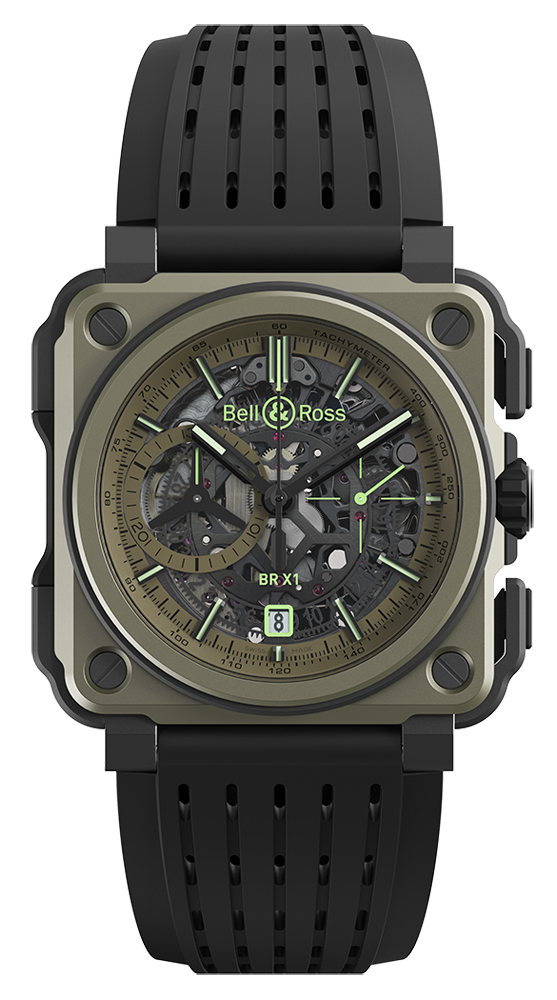 Bell And Ross Watches >> Bell Ross Br X1 Chronograph 45mm Brx1 Ce Ti Mil