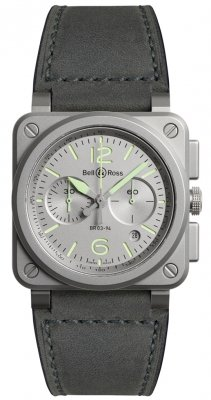 Bell & Ross BR03-94 Chronograph 42mm BR0394-GR-ST/SCA