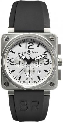Bell & Ross BR01-94 Chronograph 46mm BR01-94 Steel White