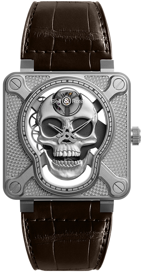 Bell And Ross Watches >> Bell Ross Br01 Laughing Skull Br01 Skull Sk St