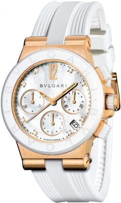 Bulgari Diagono Chronograph 37mm dgp37wgcvdch/8