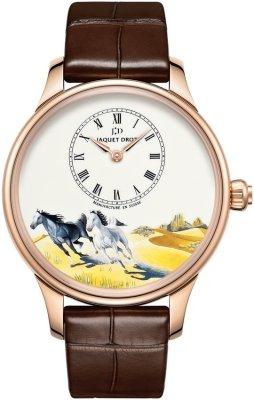 Jaquet Droz Les Ateliers d'Art Petite Heure Minute Enamel Painting 39mm j005013204 HORSES