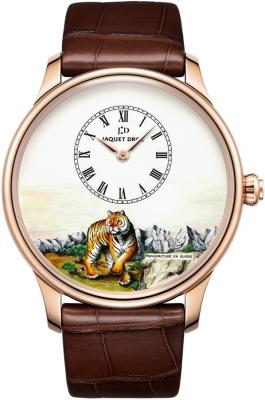 Jaquet Droz Les Ateliers d'Art Petite Heure Minute Enamel Painting 43mm J005033297 TIGER