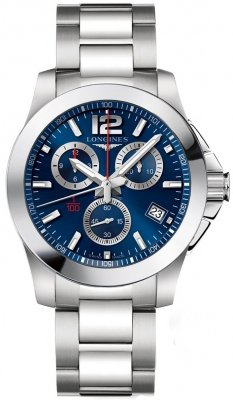 Longines Conquest Quartz Chronograph L3.700.4.96.6