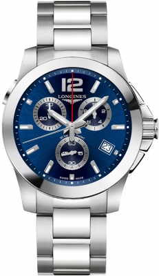 Longines Conquest Quartz Chronograph L3.702.4.96.6