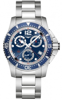 Longines HydroConquest Quartz Chronograph 41mm L3.743.4.96.6