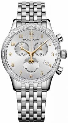 Maurice Lacroix Les Classiques Phase de Lune Chrono Ladies lc1087-sd502-121-1