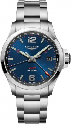 Longines Conquest V.H.P. GMT 43mm L3.728.4.96.6