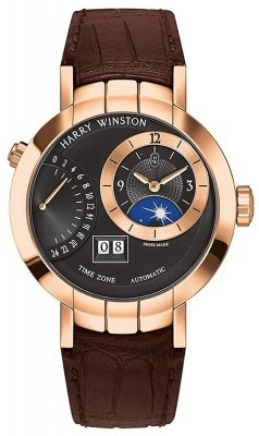 Harry Winston Premier Excenter Timezone 41mm prnatz41rr002