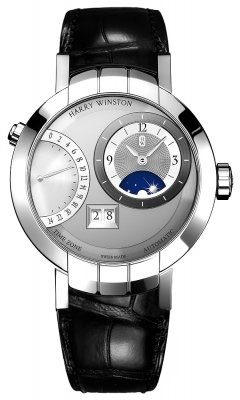 Harry Winston Premier Excenter Timezone 41mm prnatz41ww002