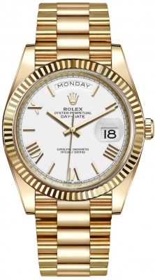 Rolex Day-Date 40mm Yellow Gold 228238 White Roman