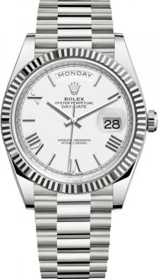Rolex Day-Date 40mm White Gold 228239 White Roman