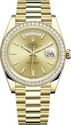 Rolex Day-Date 40mm Yellow Gold 228348RBR Champagne Index
