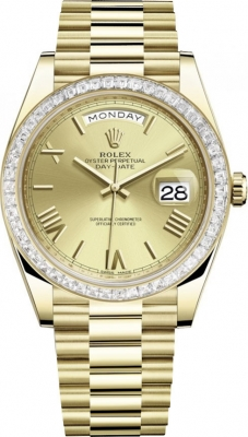 Rolex Day-Date 40mm Yellow Gold 228398TBR Champagne Roman