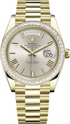 Rolex Day-Date 40mm Yellow Gold 228398TBR Silver Roman