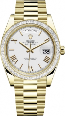 Rolex Day-Date 40mm Yellow Gold 228398TBR White Roman