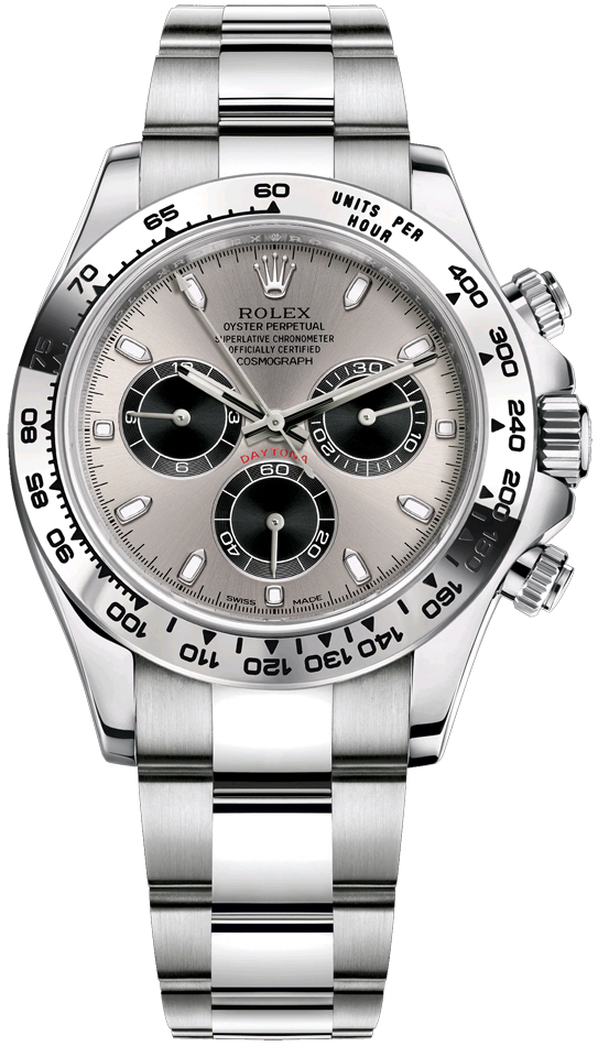 116509 Steel And Black Oyster Rolex Cosmograph Daytona White Gold