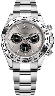Rolex Cosmograph Daytona White Gold 116509 Steel and Black Oyster