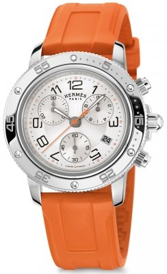 Hermes Clipper Chrono Quartz GM 36mm 036081WW00