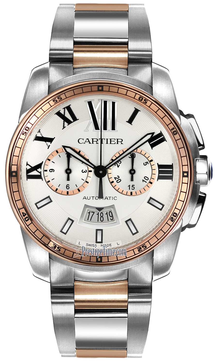 W7100042 Cartier Calibre de Cartier Chronograph Mens Watch 586c9a4ead