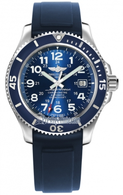 Breitling Superocean watch in blue