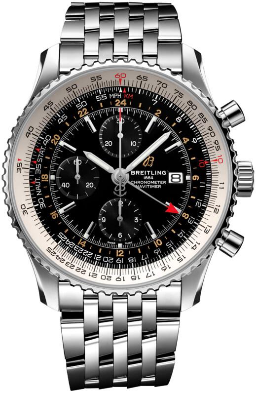 b8c1c173b a24322121b2a1 Breitling Navitimer 1 Chronograph GMT 46 Mens Watch