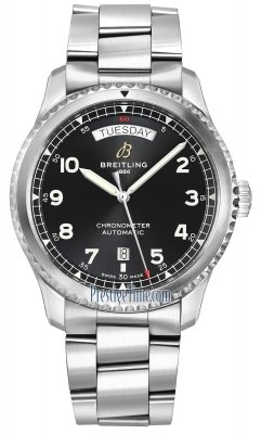 Breitling Aviator 8 Automatic Day Date 41 a45330101b1a1
