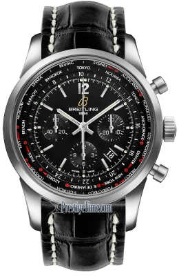 Breitling Transocean Chronograph Unitime Pilot ab0510u6/bc26-1cd