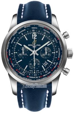 Breitling Transocean Chronograph Unitime Pilot ab0510u9/c879-3lt
