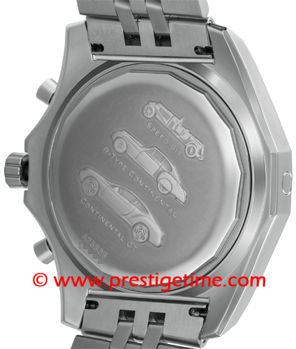 men watch breitling steel f stainless ribbed motors bezel tourbillon swiss bentley dial black