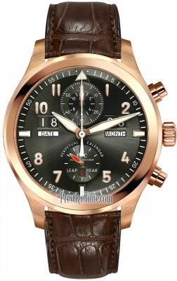IWC Pilot's Watch Spitfire Perpetual Calendar Digital  Date Month iw379103