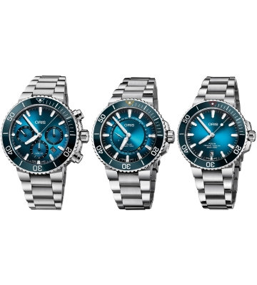 Oris Ocean Trilogy Set Aquis Great Barrier Reef III Clean Ocean Blue Whale