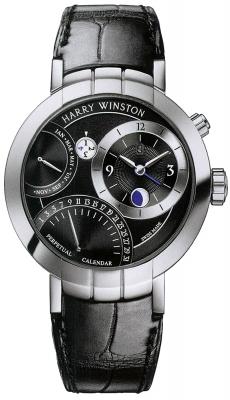 Harry Winston Premier Excenter Perpetual Calendar 41mm prnapc41ww001