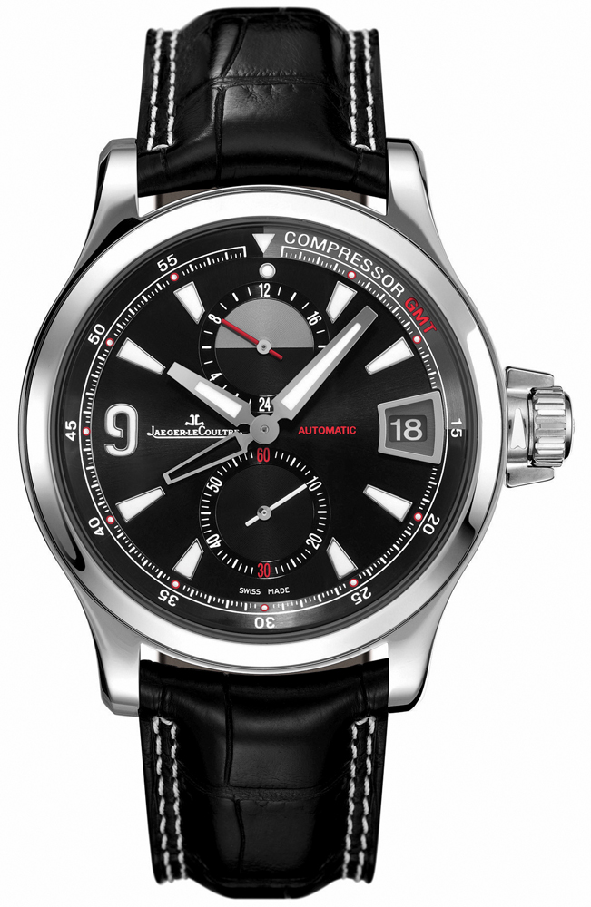 7d2f41755e1 173.84.71 Jaeger LeCoultre Master Compressor GMT Mens Watch