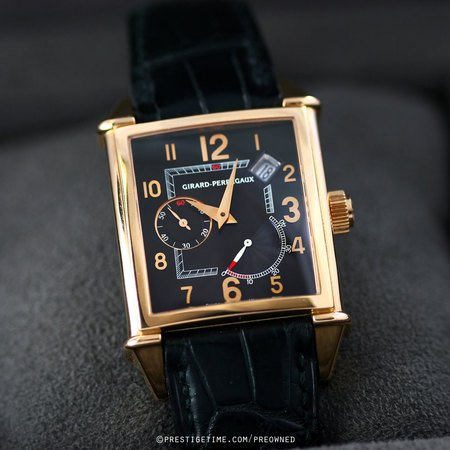 Pre-owned Girard Perregaux Vintage 1945 25850.0.52.6456