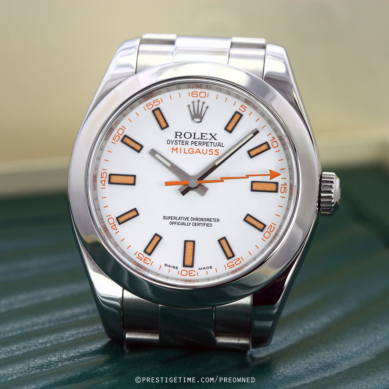 Pre owned rolex milgauss 116400 for Rolex milgauss