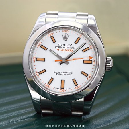 Pre-owned Rolex Milgauss 116400