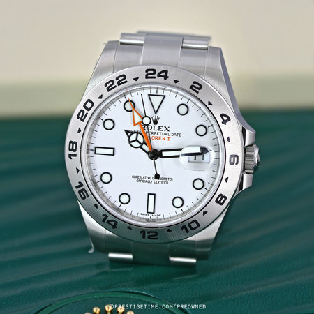 Pre-owned Rolex Explorer II 42mm 216570 White