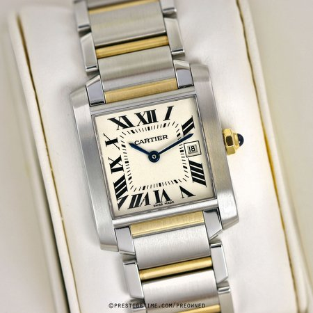 Pre-owned Cartier Tank Francaise w51012q4