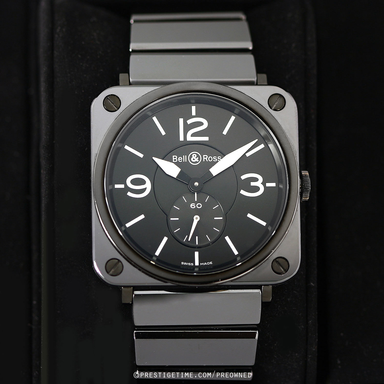 171153908c7 Pre-owned Bell   Ross BR S Quartz BRS-98-BCS