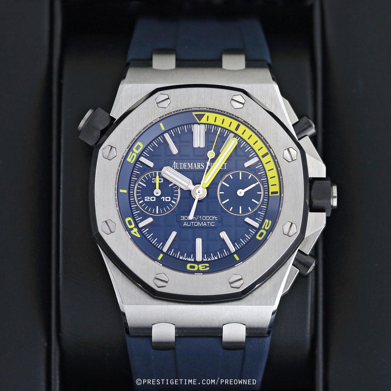 Pre owned audemars piguet royal oak offshore diver chronograph for Ap royal oak offshore chronograph