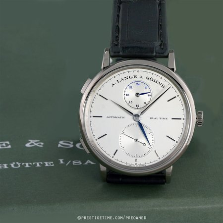 Pre-owned A. Lange & Sohne Saxonia Dual Time 385.026