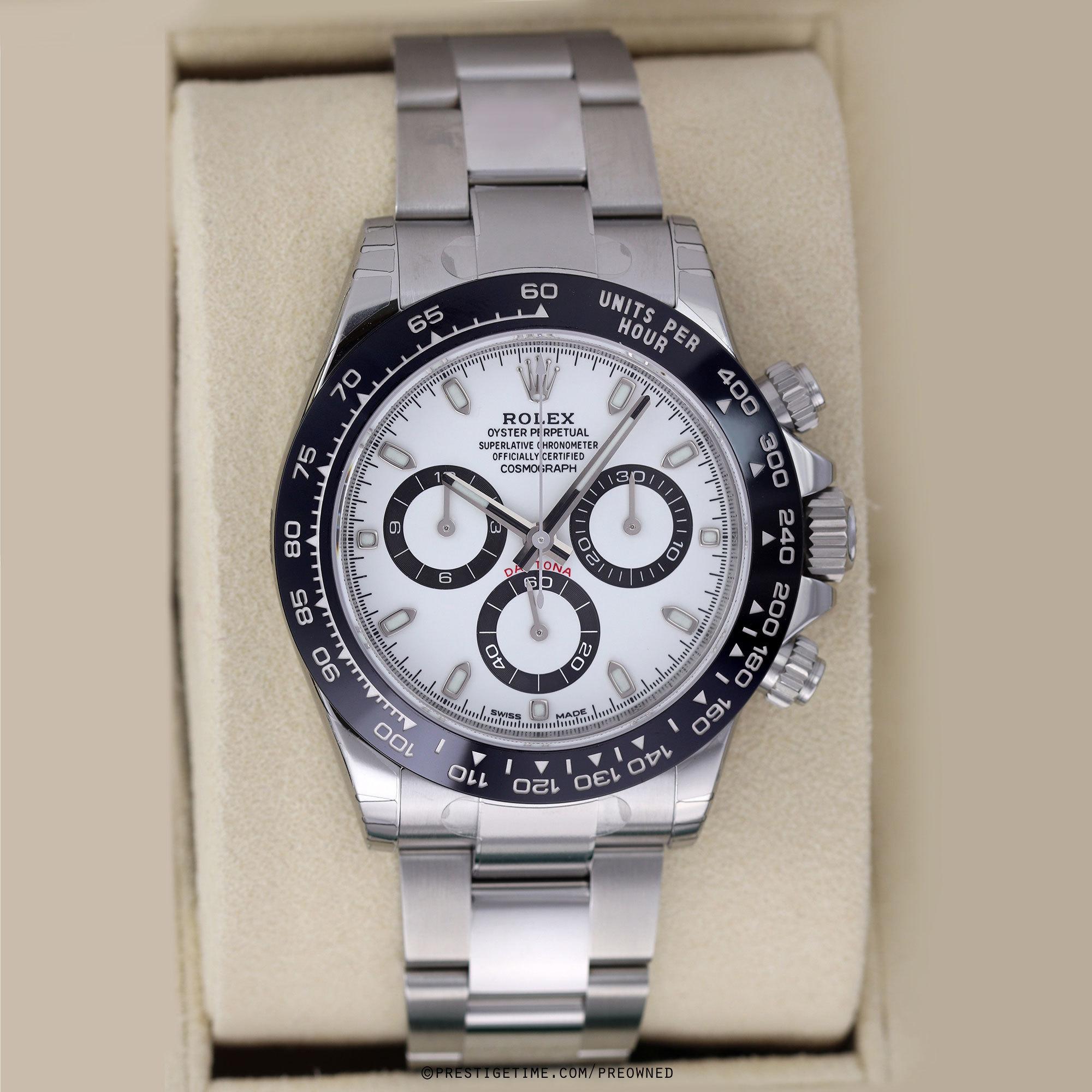 Pre-owned Rolex Cosmograph Daytona 116500LN White
