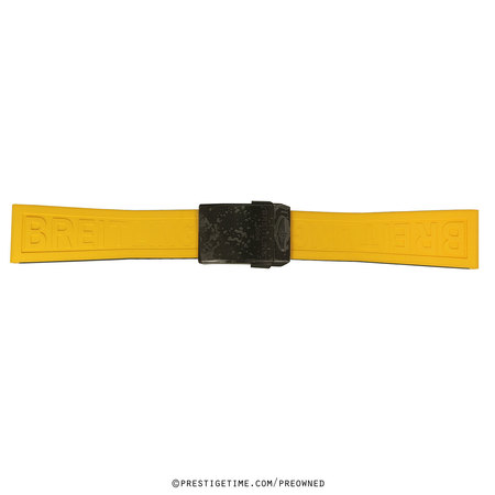 Breitling  242s Yellow Twin Pro Rubber With Deployant